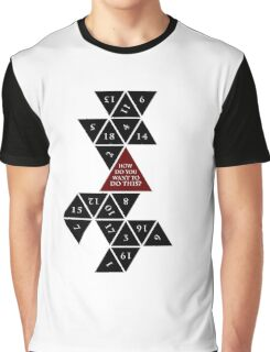 Flattened D20 - Dungeons and Dragons - Critical Role Fan Design Graphic T-Shirt