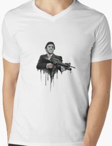scarface Mens V-Neck T-Shirt