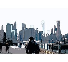 City Scene // Comic Style Photographic Print