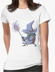 Bean Wizard - Blue and Green Womens Fitted T-Shirt