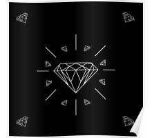 DIAMONDS - black vrs.  Poster