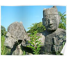 Ancient Chinese Statues Poster