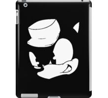 Clever Sonic (Black and White) iPad Case/Skin