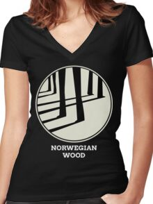Norwegian Wood Murakami Women's Fitted V-Neck T-Shirt