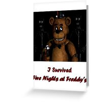 Five Nights at Freddy's: I Survived! Greeting Card