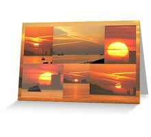 Sunset. Rio Tejo. Greeting Card