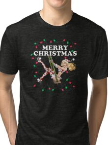 Mrs Claus -  Girl Pinup Tri-blend T-Shirt