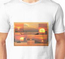 Sunset. Rio Tejo. Unisex T-Shirt
