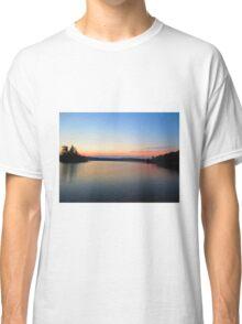 Cottage lake sunset  Classic T-Shirt