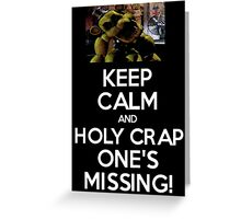 Five Nights at Freddy's: One's Missing! Greeting Card