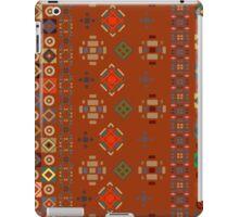 Red Boho Geometric Pattern iPad Case/Skin