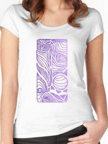 Linear Flow - Purple Fade Women's Fitted Scoop T-Shirt