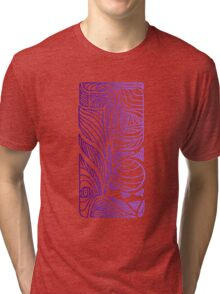 Linear Flow - Purple Fade Tri-blend T-Shirt