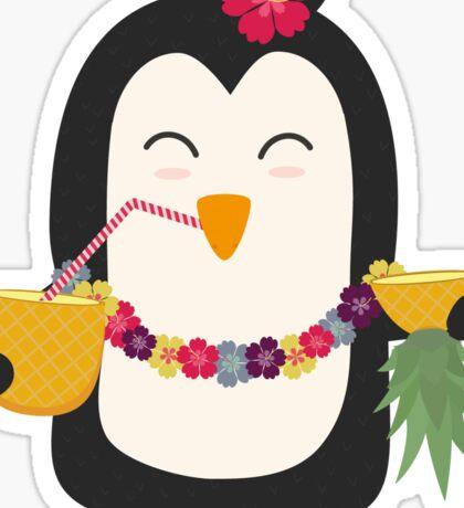Hawaii Penguin   Sticker