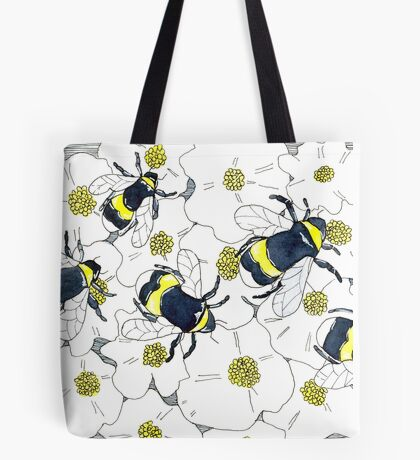 Buff-Tailed Bumblebees Tote Bag