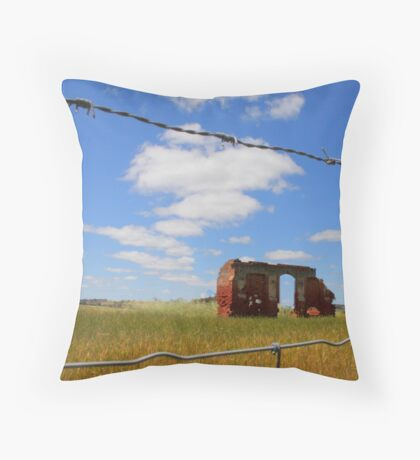 Abandoned at New Norcia Throw Pillow