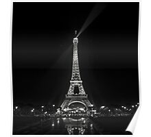 Night view over the Eiffel Tower Poster