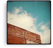 ghost sign Canvas Print
