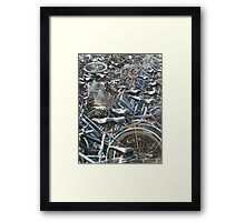 A Field of Bicycles Framed Print