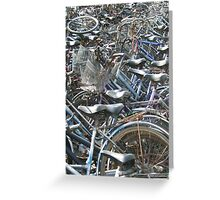 A Field of Bicycles Greeting Card