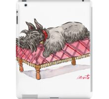 Scottie on a couch iPad Case/Skin