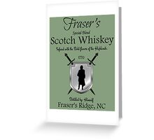 Outlander/Fraser's Scotch whiskey Greeting Card