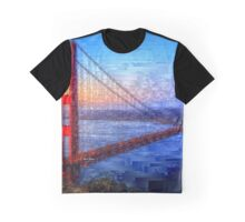 San Francisco Bay Bridge Graphic T-Shirt