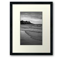 Good Harbor Beach I BW Framed Print