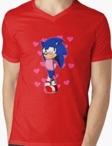 Cute Sonic Mens V-Neck T-Shirt