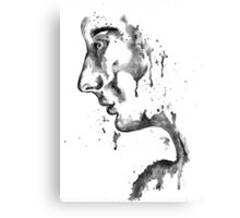 The Weeping Lady: Black & White Canvas Print