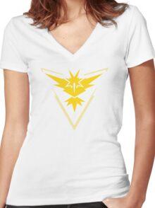 Team Instinct Pokemon Go shirt Women's Fitted V-Neck T-Shirt