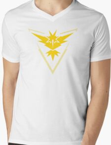 Team Instinct Pokemon Go shirt Mens V-Neck T-Shirt