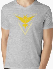 Team Instinct Pokemon Go shirt Mens V-Neck T-Shirt