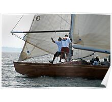 Foredeck action on board Natural Poster