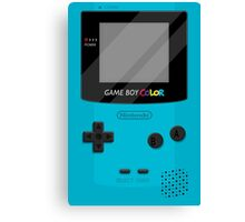 Gameboy Color 2.0 - Teal Canvas Print