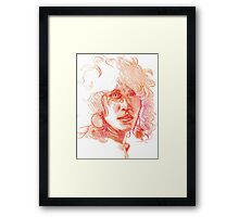 Colorful Woman Framed Print