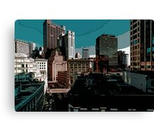 City // Comic Style Canvas Print