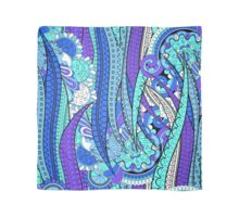 Purple & Blue Floral Fantasy Pattern Scarf