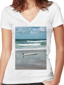 Float In Women's Fitted V-Neck T-Shirt