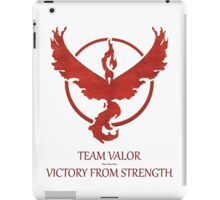 Team Valor - Victory From Strength iPad Case/Skin