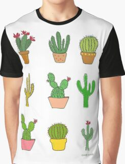 Colorful cactus Graphic T-Shirt