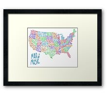 Map of Music Framed Print