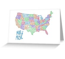 Map of Music Greeting Card