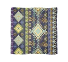 Purple & Yellow Boho Tribal Pattern Scarf