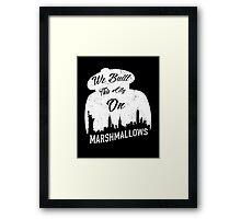 Marshmallow City  Framed Print