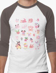 Pink Pokemon Men's Baseball ¾ T-Shirt