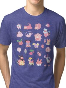 Pink Pokemon Tri-blend T-Shirt