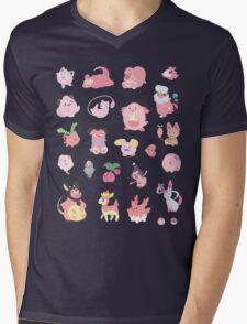 Pink Pokemon Mens V-Neck T-Shirt