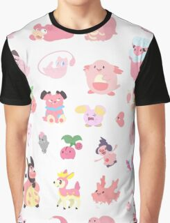 Pink Pokemon Graphic T-Shirt