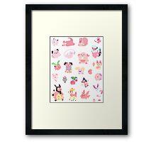 Pink Pokemon Framed Print